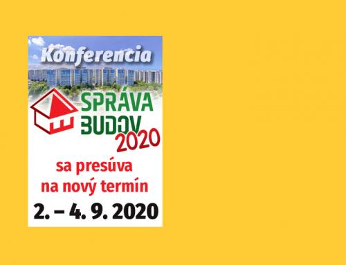 """OZNAM: presun termínu konferencie ,,Správa budov"""" 2020"""