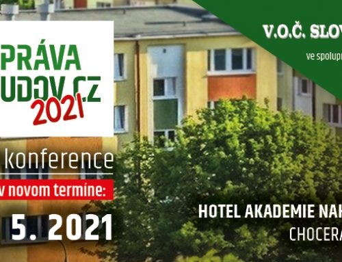 Konferencia Správa budov CZ sa uskutoční v novom termíne: 6.-7.5.2021