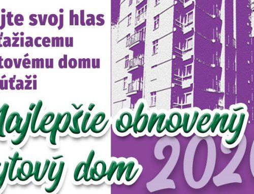 Hlasovanie verejnosti o Najlepší obnovený bytový dom 2020 bolo spustené