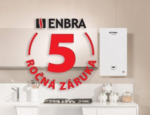 Bezplatná záruka 5 rokov na kotly od ENBRA