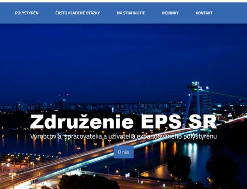 Nová webová stránka Združenia EPS SR prináša užitočné informácie o polystyréne